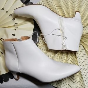 A New Day White Booties Gogo Boots